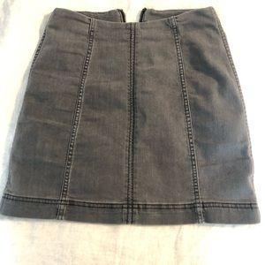 Free People Gray Modern Femme Mini Skirt
